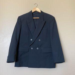 Other - Vintage Custom Black Strictured Suit